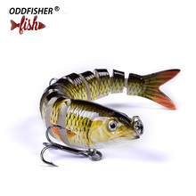 1PCS Fishing Wobblers 10 Segments Lures 9.5cm 10g Swimbait 3D Eyes Iscas Artificiais Sinking Lure Lifelike Pesca Joint Hard Bait(China)