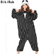 BIKIRUB Animal Pajamas Sleepwear Women Fleece Pajama Set Cute Nightmare Before Christmas Jack Skellington Skull Cartoon Homewear