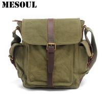 Men's Vintage Crossbody Bag Military Canvas Shoulder bag Satchel Brand Design Casual Tote Army green Travel Male Messenger Bags