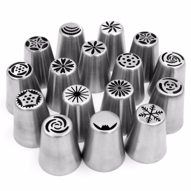 56 pc Russian Tulip Stainless Steel Piping Nozzle