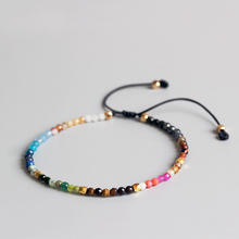 Eastisan 12 Созвездие счастливый камень простой браслет 3 мм бусины регулируемый браслет голливудские бисерные браслеты в богемном стиле унисекс