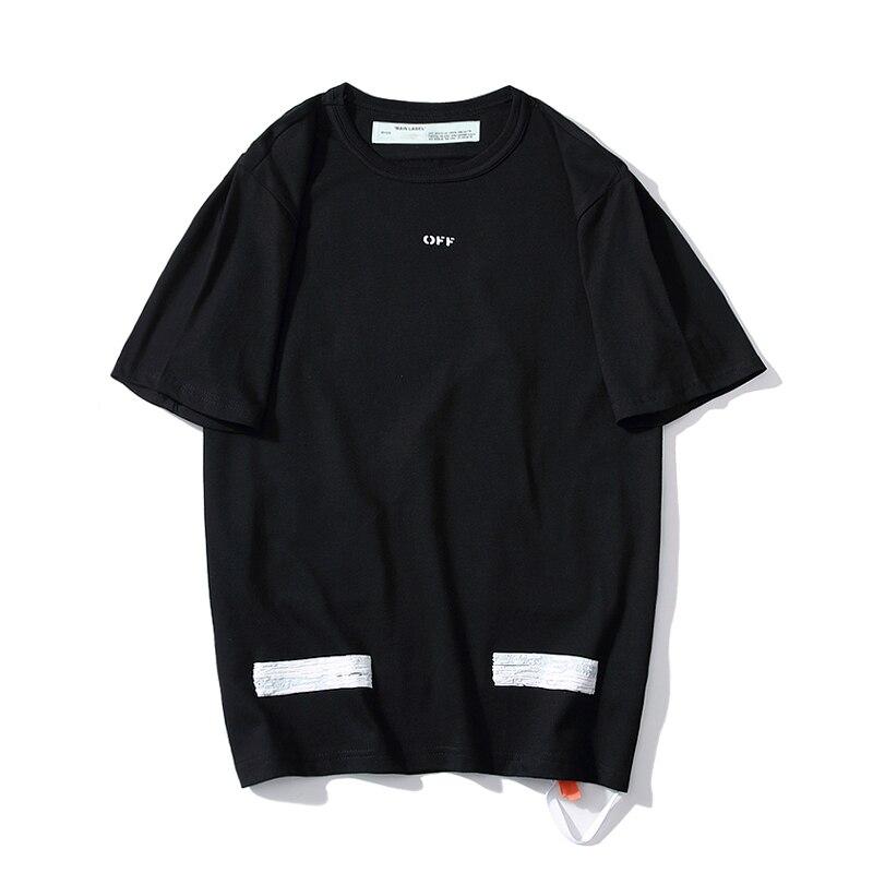 19ss Off-weiß Ow Grundlegende Doodle Skizze Blase Pfeil Kurzarm T-shirt