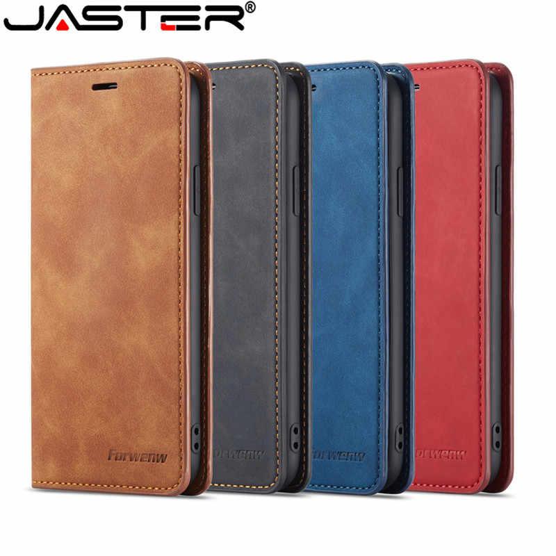 JASTER יוקרה מקרה עבור iPhone XS MAX XR X 8 בתוספת 6S בתוספת 7 בתוספת מקרה עור Flip ארנק מגנטי כיסוי עם כרטיס מחזיק ספר