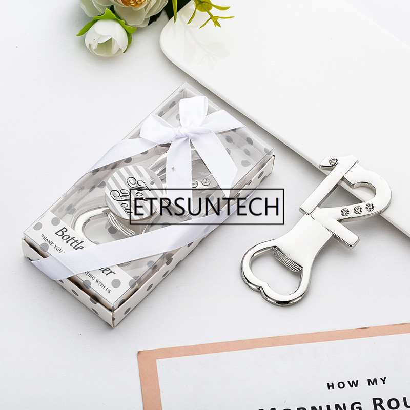 300pcs Gold 12 Digital Bottle Opener Number 12 With Diamond Wedding Anniversary Silver Beer Opener 12 Years Old Party Decoration