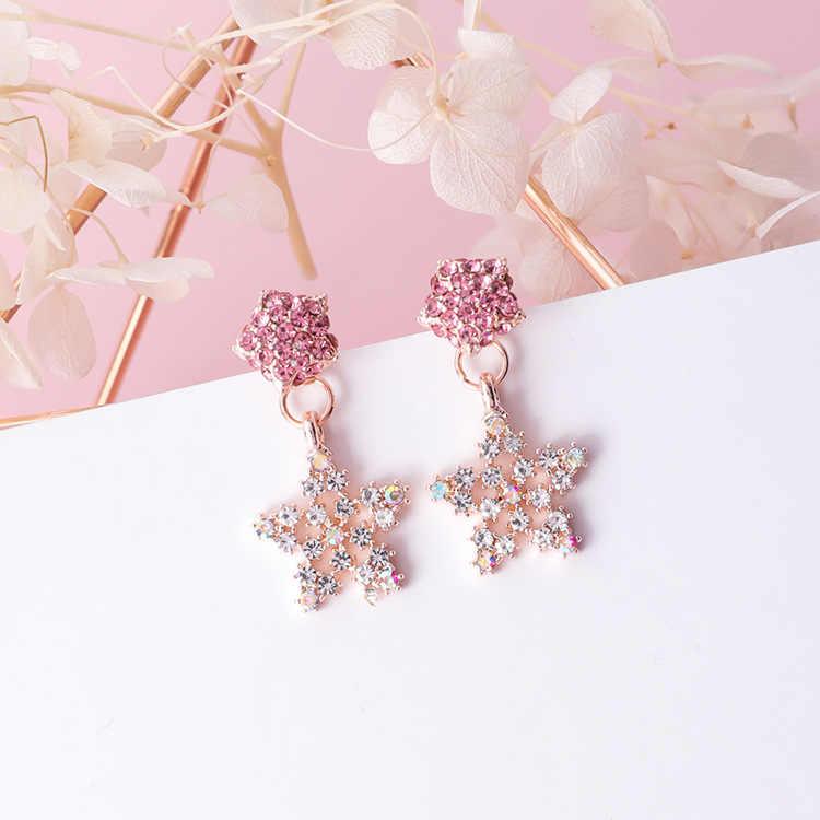Classic Heart Acrylic Women Stud Earrings Sweet Love Earrings  Fashion Jewelry Womens Accessories Earrings Pink