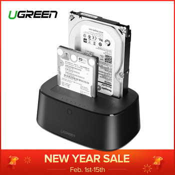 Ugreen HDD Docking Station SATA to USB 3.0 Adapter for 2.5 3.5 SSD Disk Case HD Box Dock Hard Drive Enclosure Docking Station