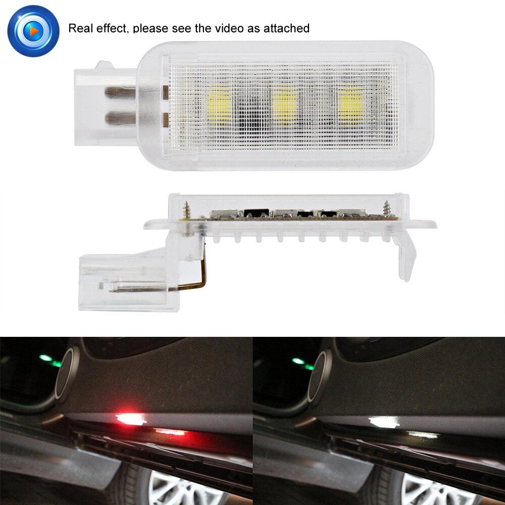 2pcs Car Door Warming Lamp LED Courtesy Red Light Laser Projector For Audi A3 A1 A4 A5 A6 A7 A8 Q3 Q5 Q7 TT 80 C5 C6 B5 B6 B7