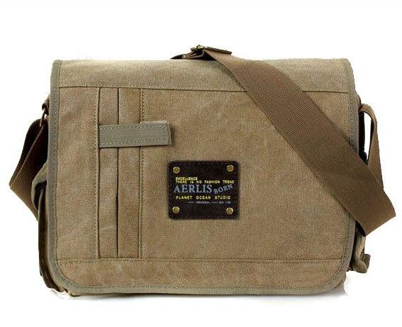Military Messenger Bags Men's Travel Canvas Shoulder Bag Crossbody Top-handle Bags Famo Us Brands Designer Tote Ladies Handbag