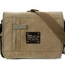 Military Messenger Bags Men's Travel Canvas Shoulder Bag Cro