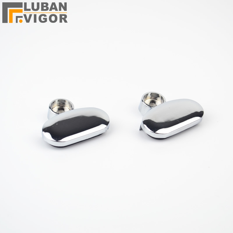 Oval Glass Clip Mirrors Supporting Sheet Fixed Mirror Clipmirrors