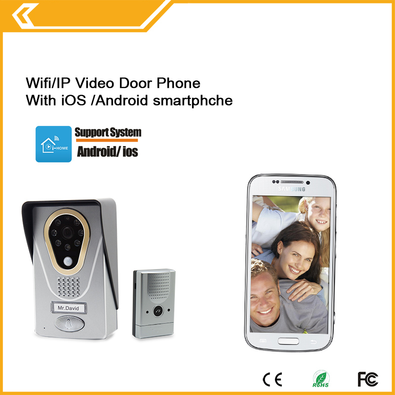 все цены на wireless video door phone WIFI doorbell intercom digital camera smart phone control night vision wifi