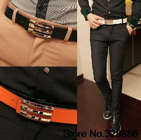 Men Korean Version Of The Influx Of Men S Fashion Belt Narrow Belt