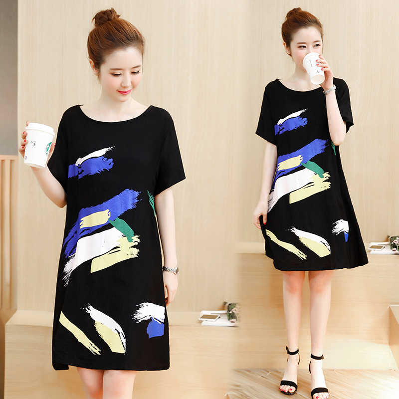 3cce79399dc 4xl plus big size women clothing 2017 spring summer style korean vestidos  print cute sweet casual dress female A3271-in Dresses from Women s Clothing  on ...