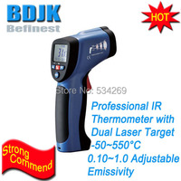 50~550 Professional Infrared Thermometers with Dual Laser Targeting Handheld Temperature Instruments