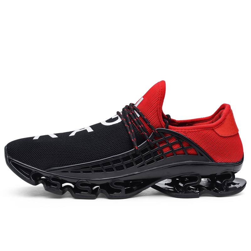 fd00dd5a76a49 US $28.4 5% OFF Men Shoes Running Adult Sport Athletic Breathable Autumn  Summer Trainers Womens Human Race Springblade Sport Shoes Sneakers-in  Running ...