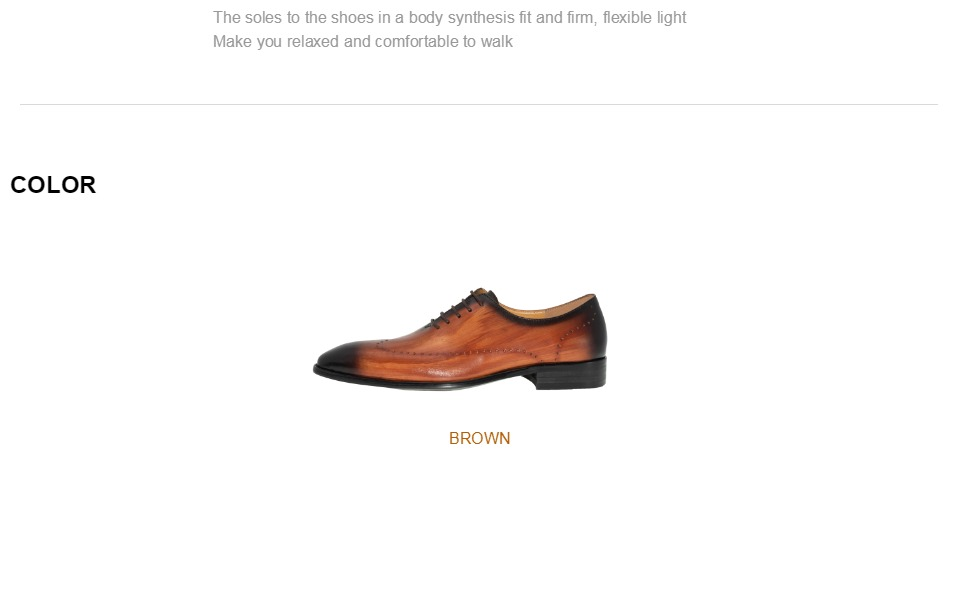 Genuine Leather Men Dress Shoes Office Business Wedding Mixed Brown Color Luxury Formal brogue Pointed Toe Oxfords Mens Shoes 5