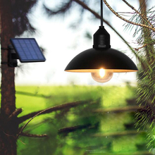цены LED Solar Light Waterproof Retro Solar Lamp Power Pendant Light Street Light Bulb for Outdoor Courtyard Solar Garden Lamp