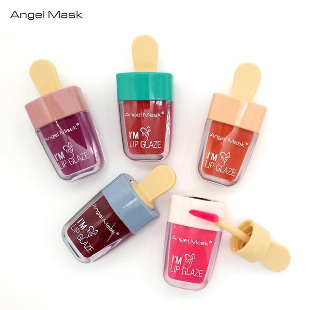 ANGEL MASK Brand Ice Cream Lip Gloss Baton Liquid Lipstick Long ...