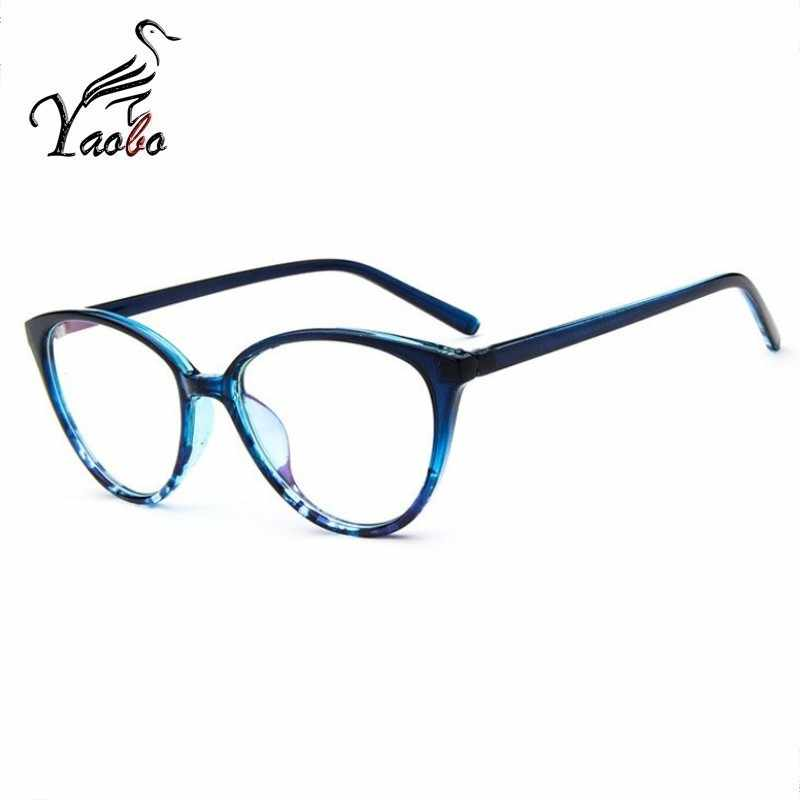 2018 ramka do okularów oprawki do okularów kocie oczy przezroczyste soczewki kobiety markowe okulary oprawki do okularów korekcyjnych krótkowzroczność nerdy czarne czerwone okulary rama