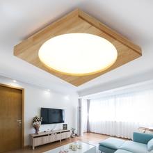 Aufbau Moderne EICHE Fhrte Deckenleuchten Fr Wohnzimmer Schlafzimmer Holz Led Leuchte Lampara De Techo Beleuchtung