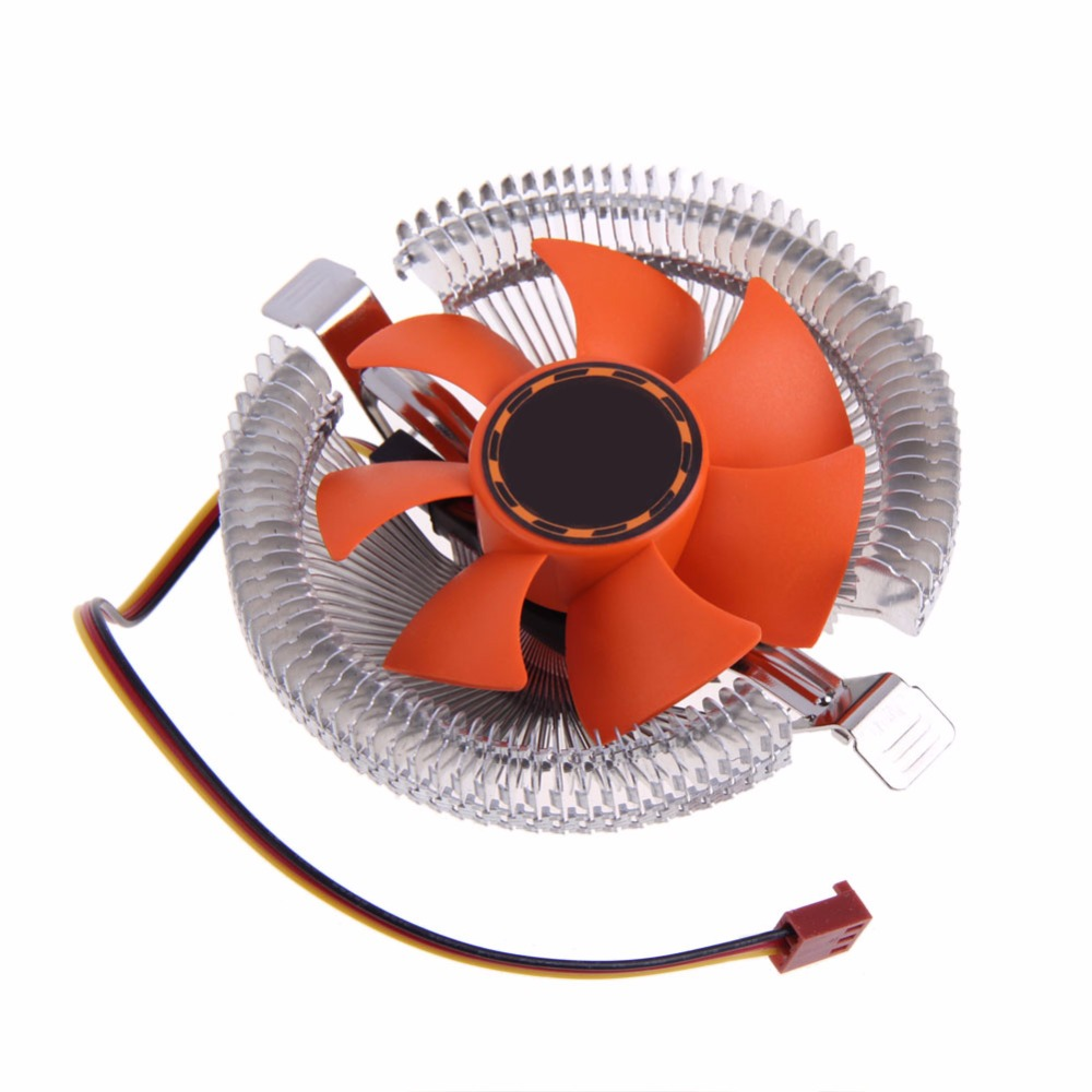 High Quality PC CPU Cooler Cooling Fan Heatsink for Intel LGA775 1155 AMD AM2 AM3 754 Wholesale Price three cpu cooler fan 4 copper pipe cooling fan red led aluminum heatsink for intel lga775 1156 1155 amd am2 am2 am3 ed