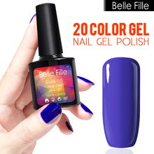 Belle Fille 20 Nail Gel Polish Sweet Candy Colors UV Gel Nail Polish UV LED Manicure Gel Nail Varnish Blue purple Nail Polish