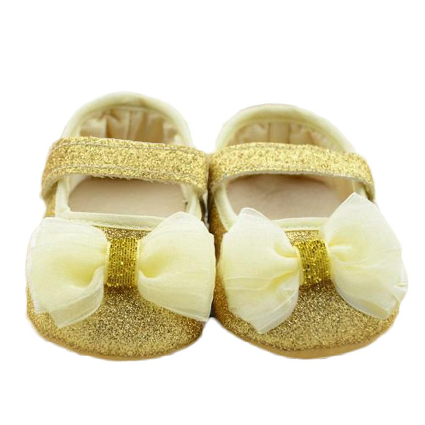 BMF TELOTUNY Fashion Baby Bowknot Sequins Toddler Princess Cotton Cloth First Walkers Girls Kid Shoes Apr25 Drop Ship