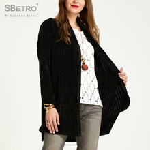 SBetro By Suzanne Betro Chenille Sweaters Cardigan Female Long Sleeve Casual Autumn Women Ladies Cardigans Coats Plus size XXXL(China)