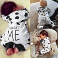 Algodão Romper Do Bebê de Manga Comprida Bebê Recém-nascido Da Menina do Menino Roupas Crianças Dot Vaca Macacão Conjunto de Roupas de Bebê
