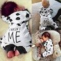 Del Bebé Del algodón Del Mameluco Recién Nacido de Manga Larga Cabritos de la Ropa Del Bebé de La Muchacha Dot Vaca Mono Ropa de Bebé Conjunto