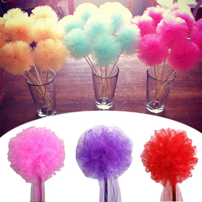 20cm/30cm Tulle Flower Ball DIY Handmade Polyester Flowers
