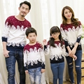 Free shipping winter family clothing Christmas Sweater Couples Dad Mon Kids long sleeved sweater t-shirt family matching
