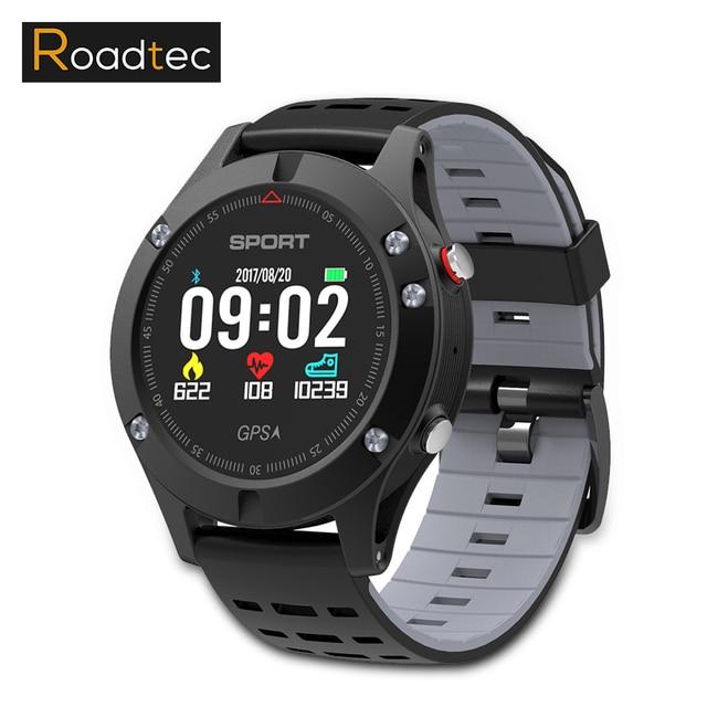 Roadtec rd5 Смарт-часы GPS водонепроницаемый сердечный ритм сердца монитор SmartWatch взрослых Bluetooth Фитнес трекер спортивные часы браслет