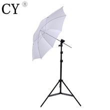 Photo Studio Light Stand Umbrella Flash Mount Set white umbrella+200CM stand+socket head studio umbrella stand kits PSK2A