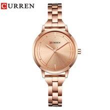 CURREN 9019 часы Для женщин Повседневное модные Кварцевые наручные часы Творческий Дизайн Дамы подарков relogio feminino