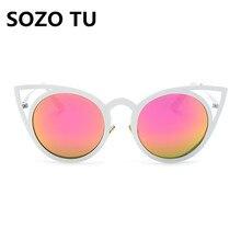 2016  New Women 12 Colour Luxury Cat Eye Sunglasses Women Sunglasses High Quality Double-Deck Alloy Frame UV400
