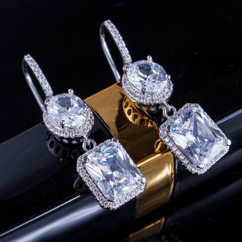 Yellow Crystal Drop Earrings 5