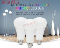 AC86~265V FUT105 12W RGB+CCT LED Bulb Model 50~60Hz 2.4G Wireless E27 LED Bulb Dimmable 2 in 1 Smart LED Light