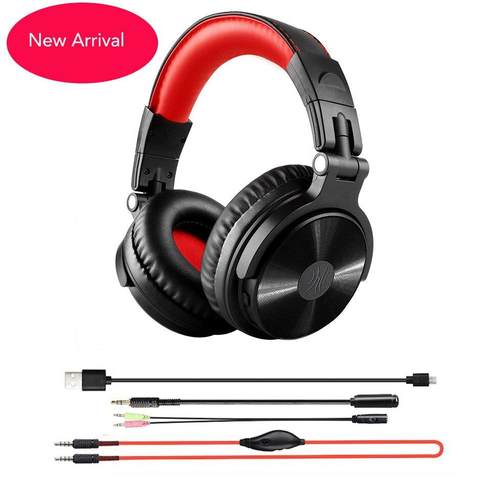Oneaudio novo gaming headset fones de ouvido sem fio com estender mic para chating dobrável portátil bluetooth para xbox etc