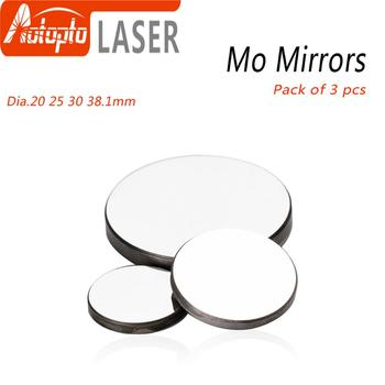 High Quality Mo Mirror Dia. 15 19.05 20 25 30 38.1mm THK 3mm for CO2 Laser Engraving Cutting Machine Pack of 1Pcs/3 Pcs fireray co2 laser head set kit 1pcs dia 20mm znse focus lens 3pcs dia 25m mo si mirror 25mm for laser engraving cutting machine