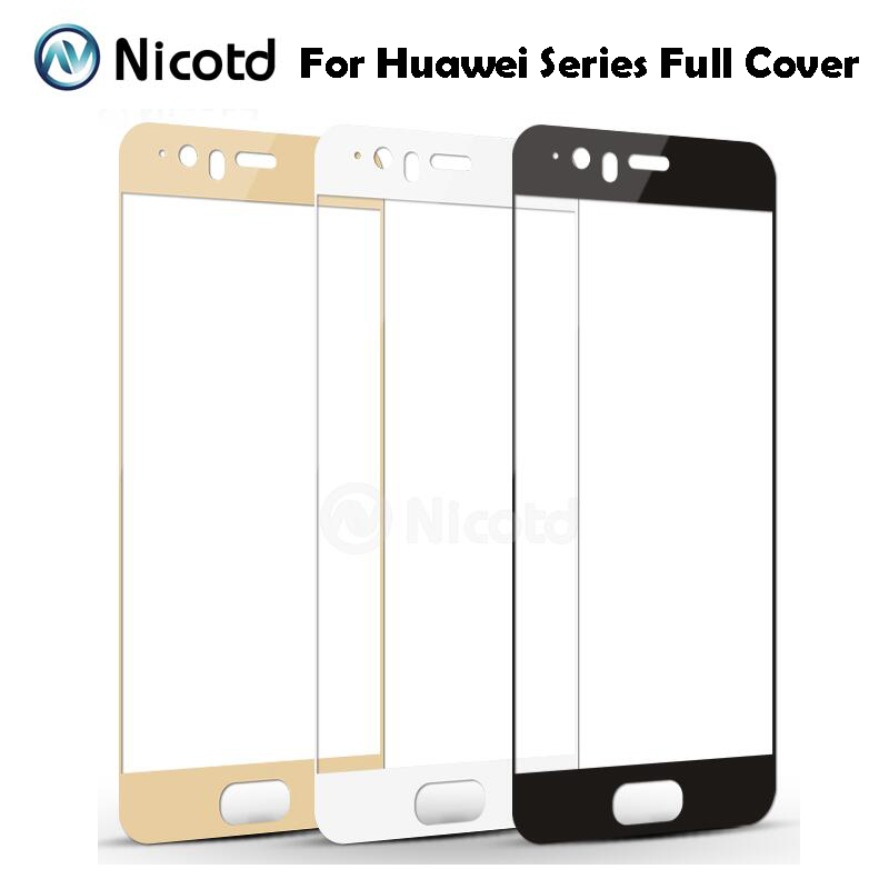 Nicotd 9H Full Cover <font><b>Tempered</b></font> <font><b>Glass</b></font> For Huawei P10 P9 Plus P8 <font><b>Lite</b></font> 2017 Mate 8 <font><b>9</b></font> Nova Plus <font><b>honor</b></font> 8 Pro 6x Screen Protector Film image