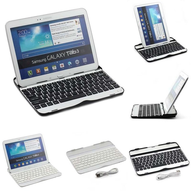 "Ультра-тонкий Беспроводная Bluetooth Клавиатура Док Чехол для Samsung Galaxy Tab 3 Tab 4 10.1 ""P5200 P5210 Беспроводные Bluetooth Клавиатура"