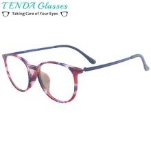 Kobiety owalne małe octanowe kolorowe okulary męskie modne okulary na soczewki korekcyjne