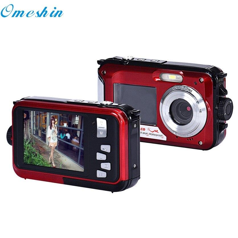 все цены на OMESHIN Factory Price  Double Screen Waterproof Camera 24MP 16x Digital Zoom Dive Camera May23 Drop Shipping онлайн