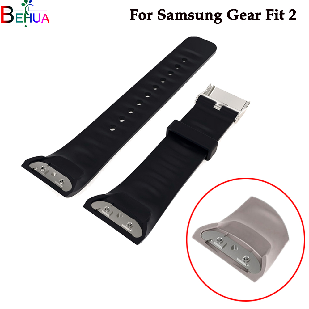 Silicone Sport Wristband Watch Band For Samsung Gear Fit 2 Watch SM-R360 Smart Watch For Samsung Gear S2 Watchbands Accessories