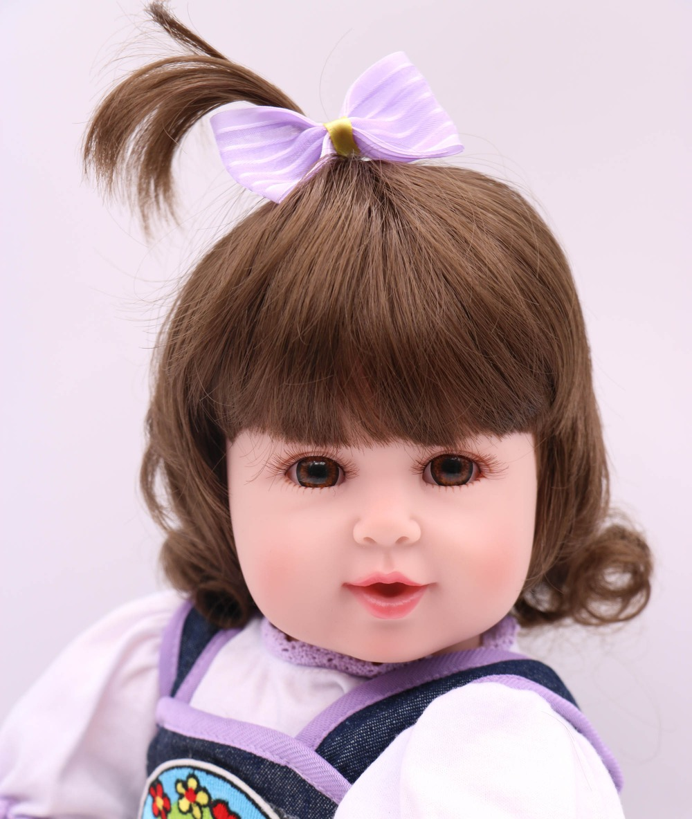 New Commodity 50cm Silicone Vinyl Reborn Baby Doll Fashion Princess Accompany Doll Birthday Gift bebe girl reborn BrinquedosNew Commodity 50cm Silicone Vinyl Reborn Baby Doll Fashion Princess Accompany Doll Birthday Gift bebe girl reborn Brinquedos