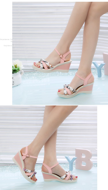 New Summer Fashion Women Sandals Ladies High Heel Platform Open Toes Women Sandals Shoes Women's Platfroms Casual Wedges Sandals