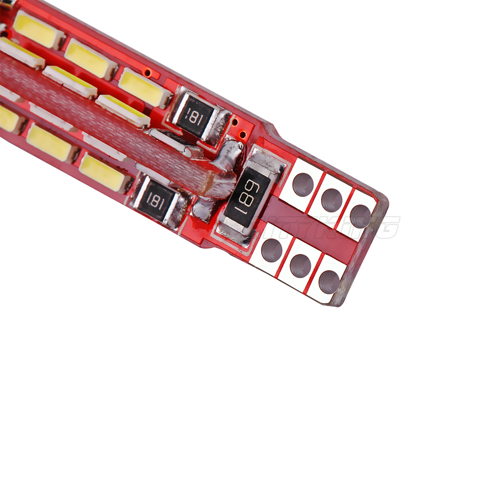 2PCS / LOT T10 led CANBUS LED 27smd 4014 SMD WHITE LIGHTTS ERRO FREE - Автомобилни светлини - Снимка 5