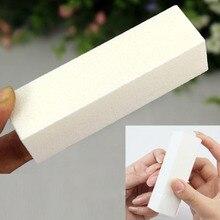 1pcs sanding buffer block for UV n ail p olish manicure tool m anicure pedicure white form file