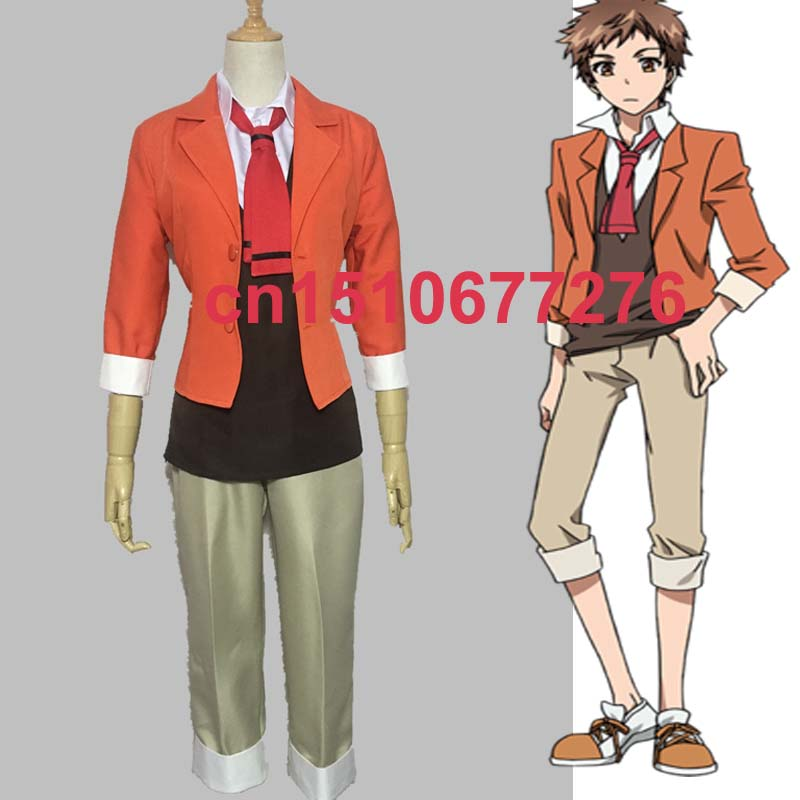 New Anime SERVAMP Shirota Mahiru Cosplay Costume Custom Made servamp anime vampire mahiru kuro snow lily jeje hyde food version japanese rubber keychain